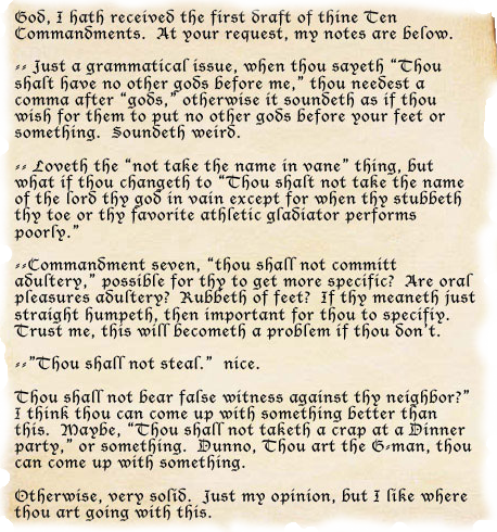 10 Commandments List